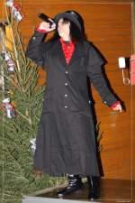 2009/43250/graf-horst-hotte-schroeder-auf-dem Graf Horst 'Hotte' Schröder auf dem Wanner Weihnachtsmarkt. -- 4.12.2009 --